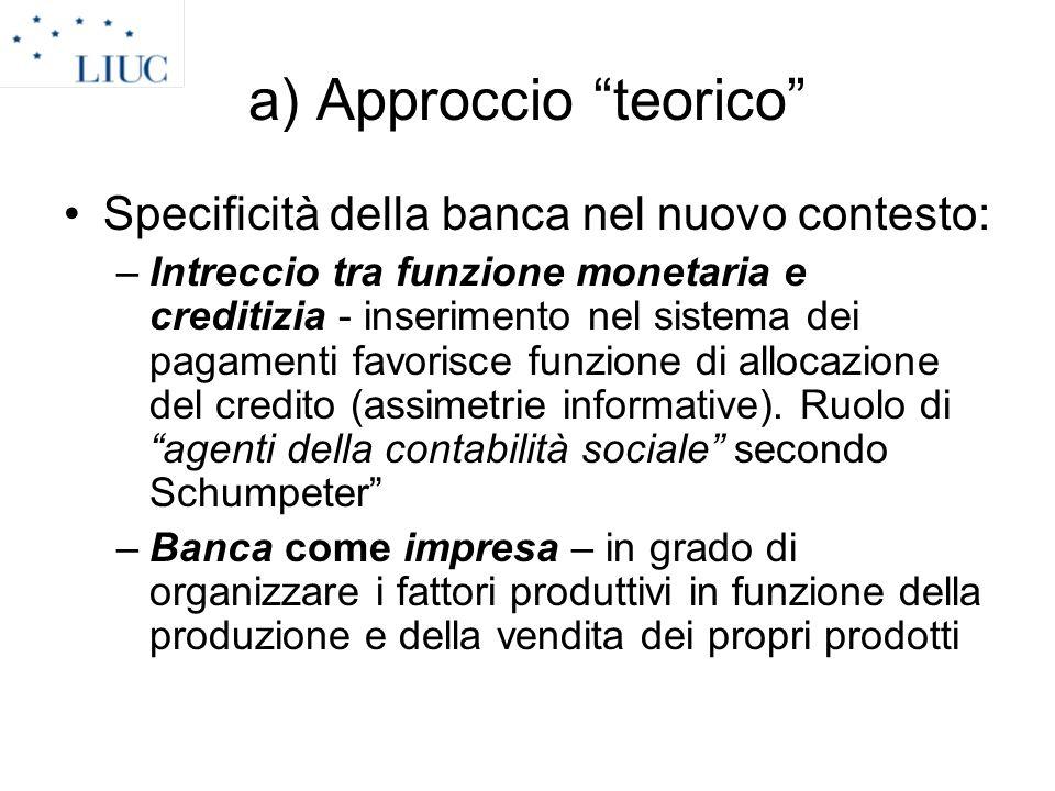 a) Approccio teorico