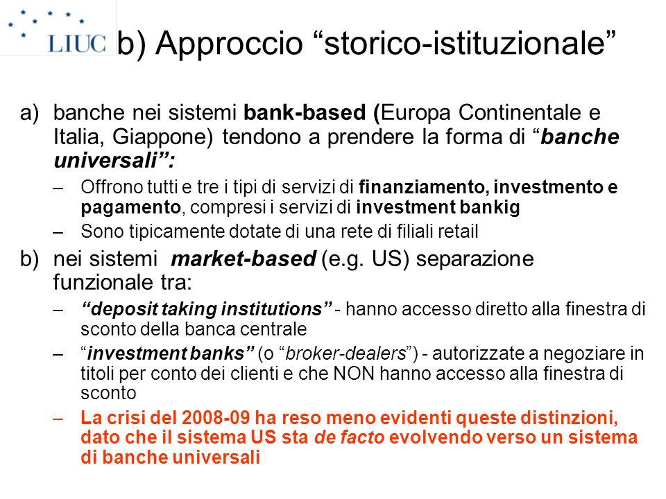 b) Approccio storico-istituzionale