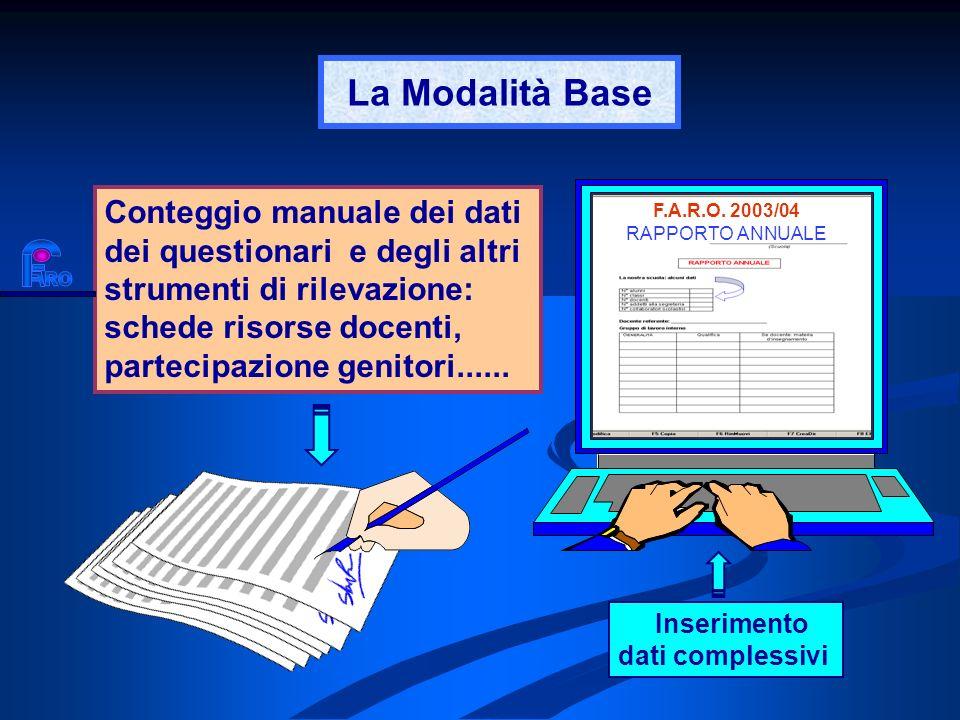 La Modalità BaseF.A.R.O. 2003/04. RAPPORTO ANNUALE.