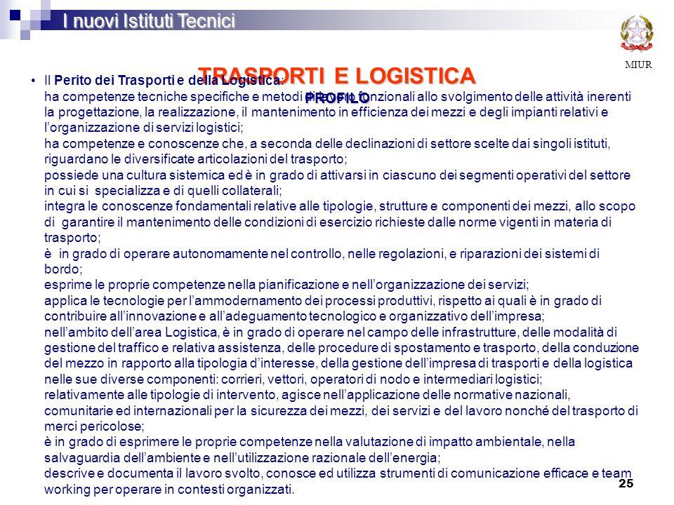 TRASPORTI E LOGISTICA PROFILO