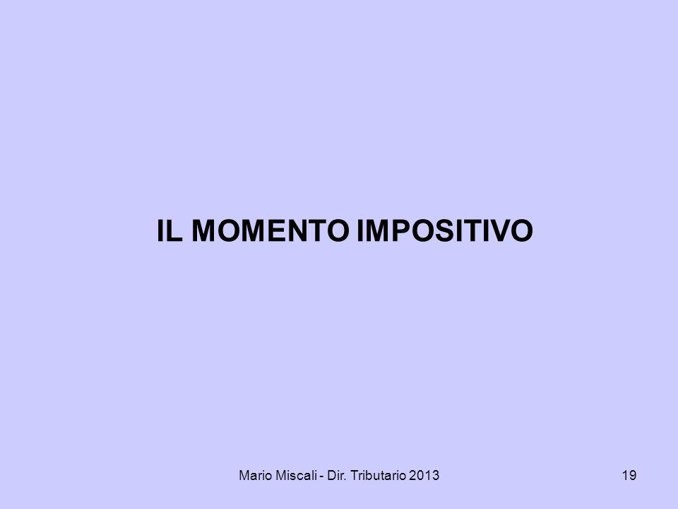 Mario Miscali - Dir. Tributario 2013