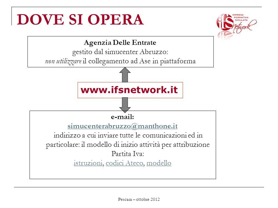 DOVE SI OPERA www.ifsnetwork.it Agenzia Delle Entrate