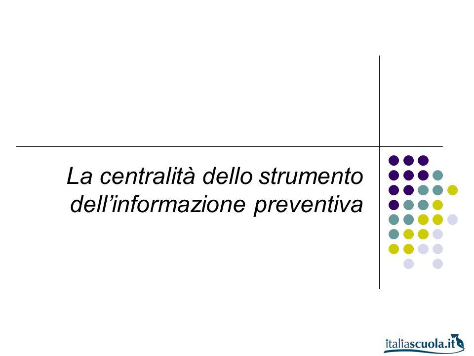 La centralità dello strumento dell'informazione preventiva