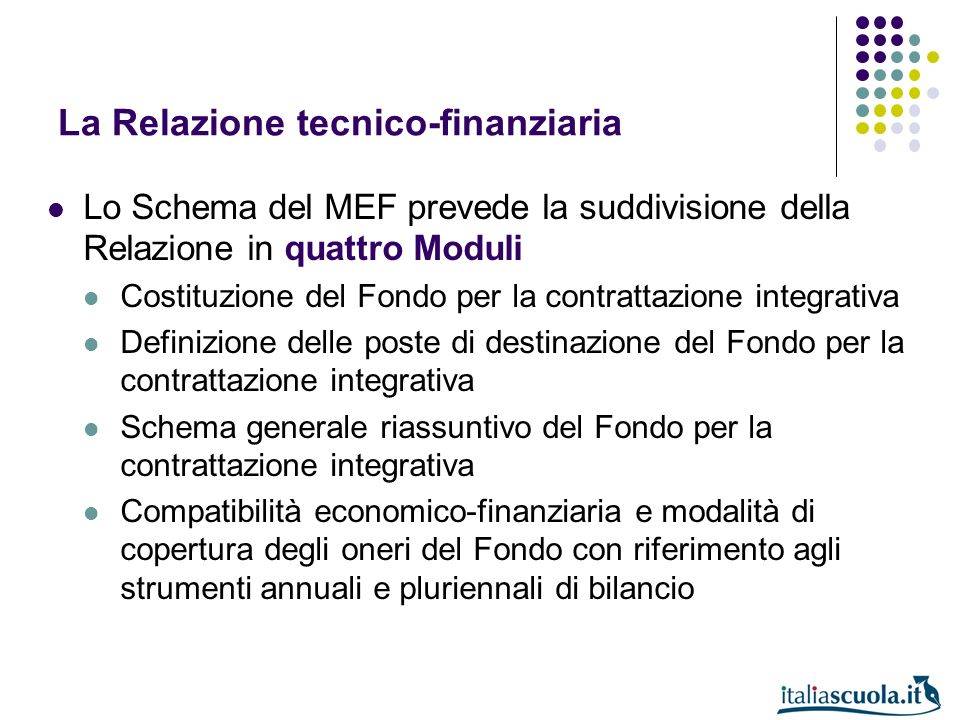 La Relazione tecnico-finanziaria