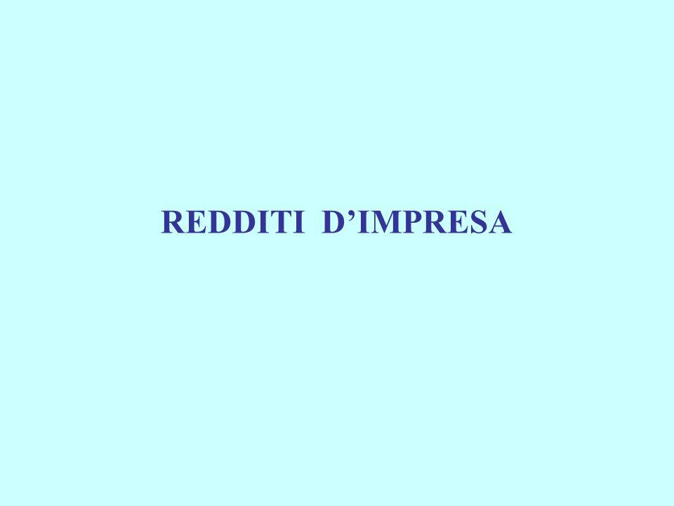 REDDITI D'IMPRESA