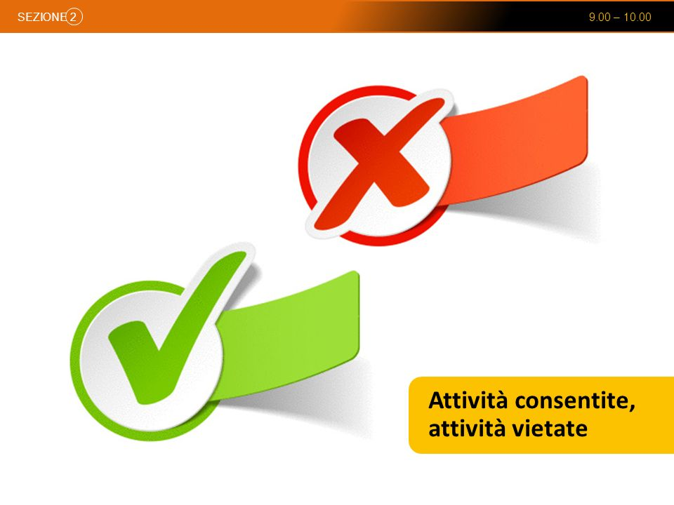 Attività consentite, attività vietate