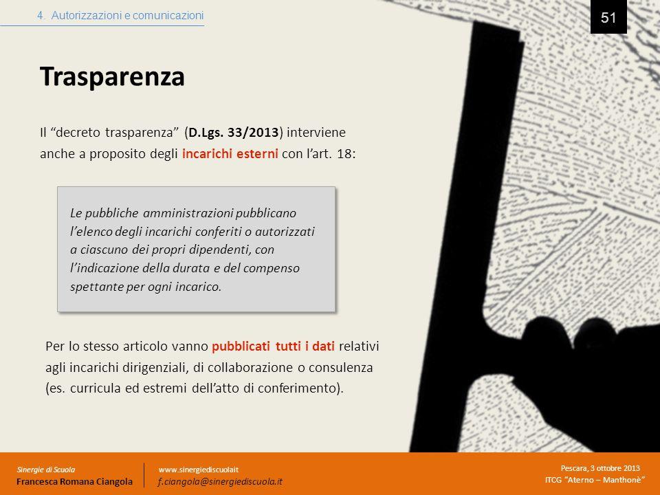 4. Autorizzazioni e comunicazioni