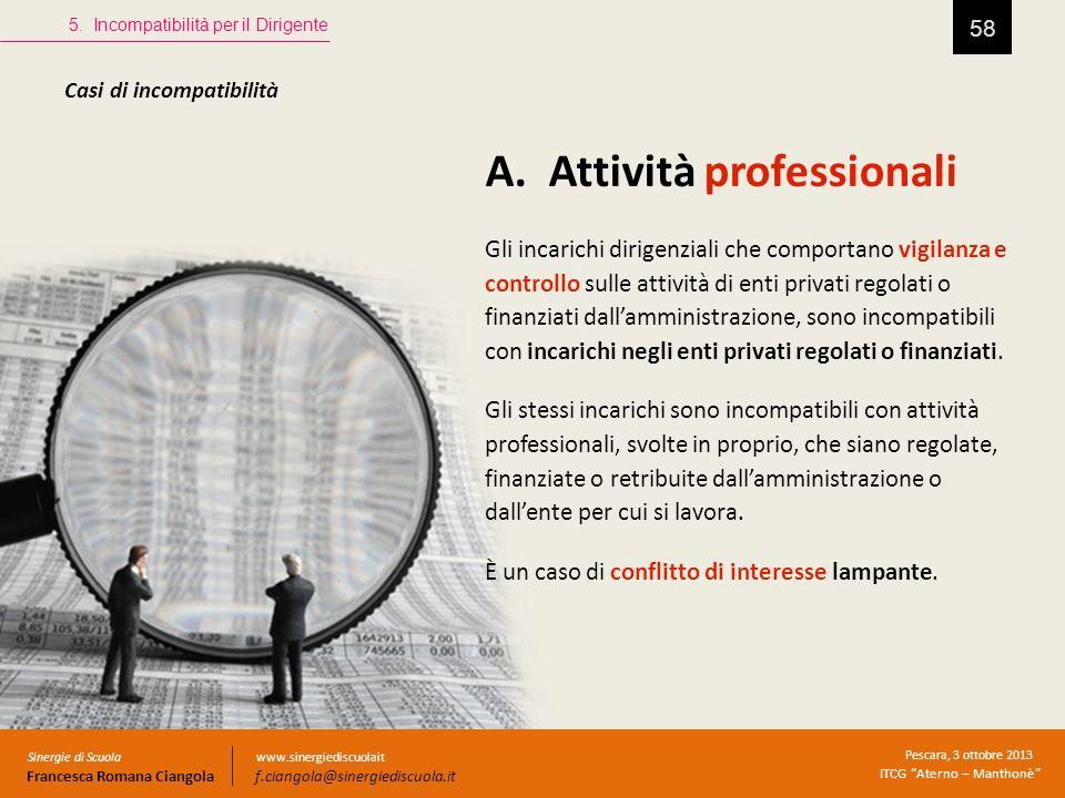 A. Attività professionali
