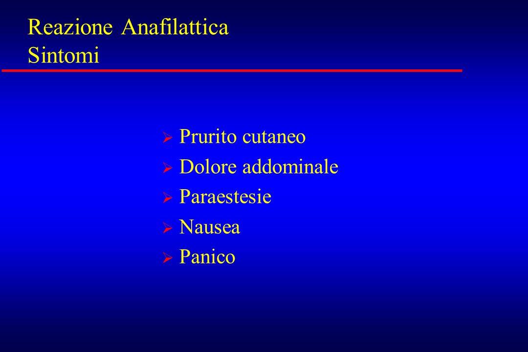 Reazione Anafilattica Sintomi