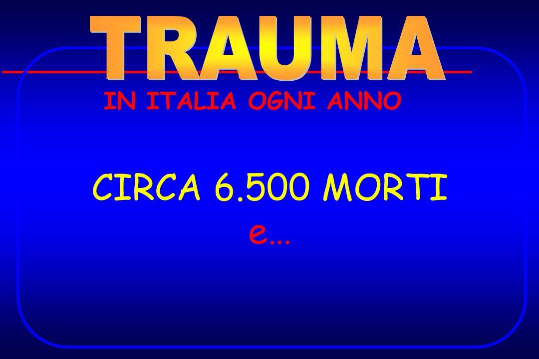 TRAUMA IN ITALIA OGNI ANNO CIRCA 6.500 MORTI e…