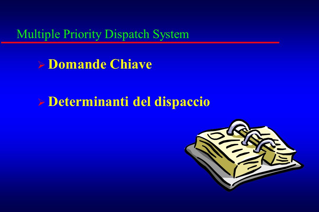 Multiple Priority Dispatch System