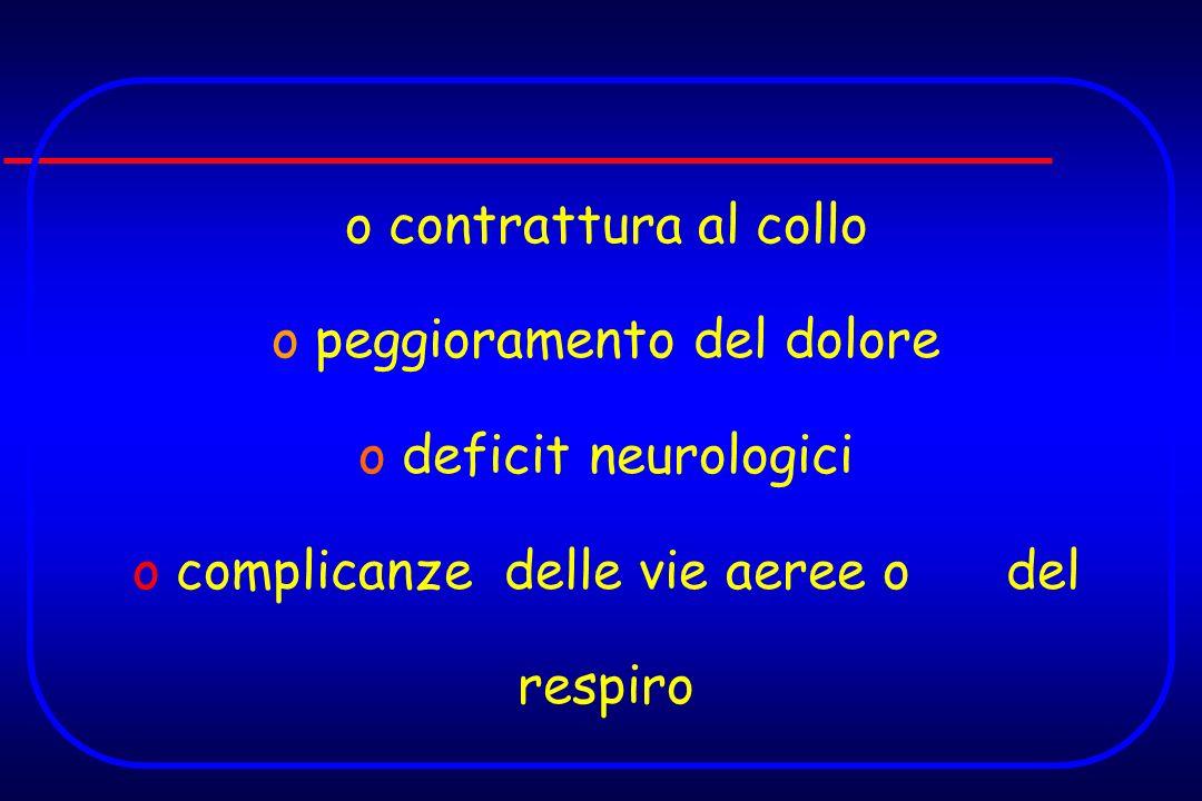 peggioramento del dolore deficit neurologici