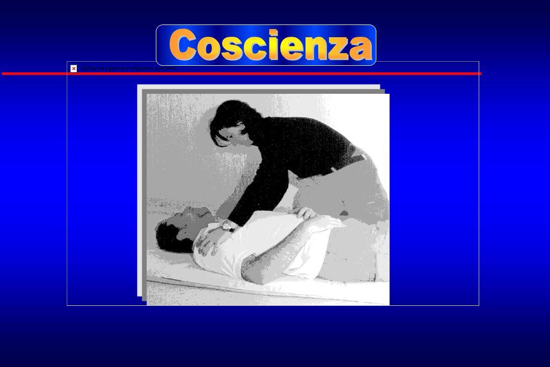 CoscienzaPer valutare lo stato di coscienza è sufficiente avvicinarsi al paziente e chiamarlo ad alta voce.