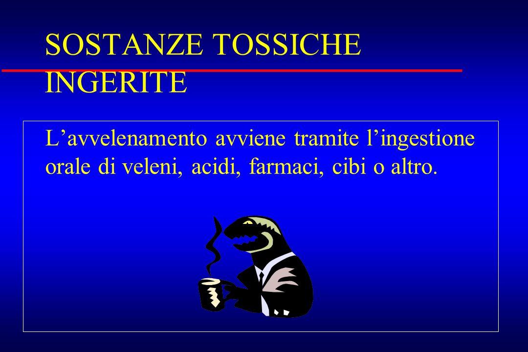 SOSTANZE TOSSICHE INGERITE