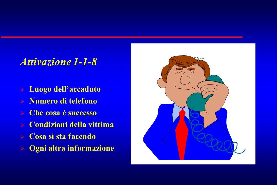 Attivazione 1-1-8 Luogo dell'accaduto Numero di telefono