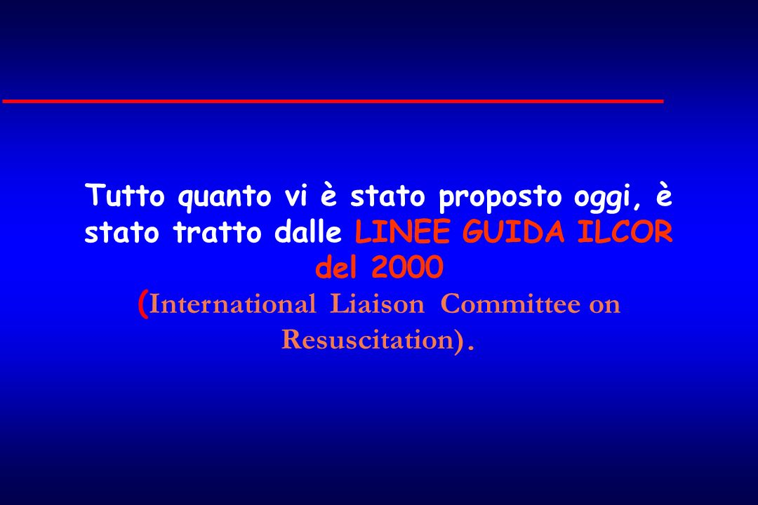 (International Liaison Committee on Resuscitation).