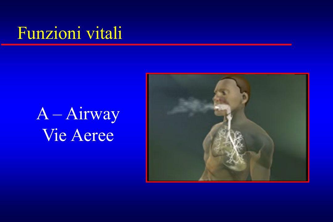 Funzioni vitali A – Airway Vie Aeree