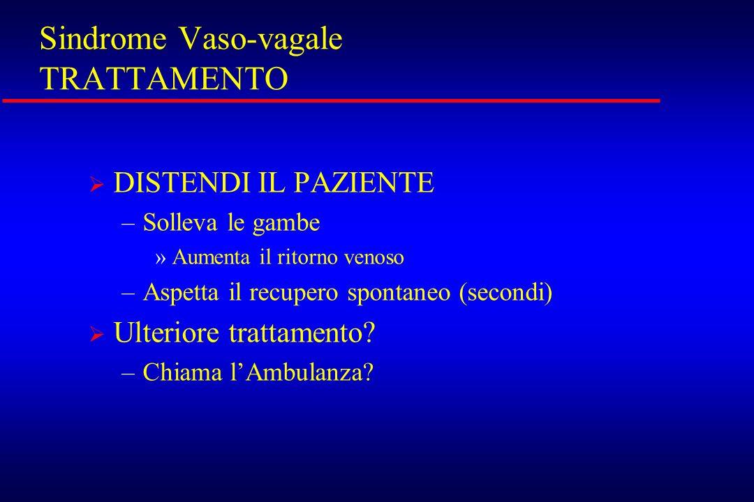 Sindrome Vaso-vagale TRATTAMENTO