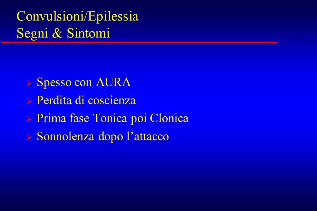 Convulsioni/Epilessia Segni & Sintomi