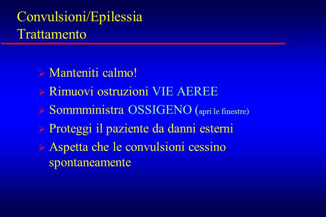 Convulsioni/Epilessia Trattamento