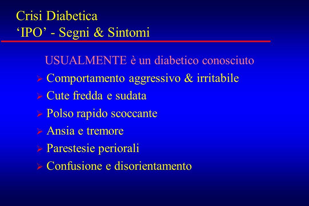 Crisi Diabetica 'IPO' - Segni & Sintomi