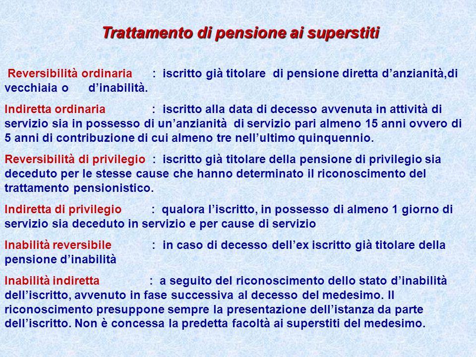 Trattamento di pensione ai superstiti