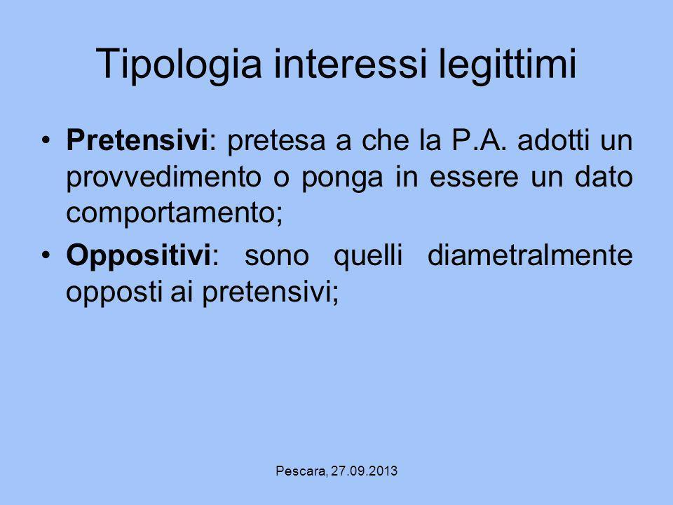 Tipologia interessi legittimi