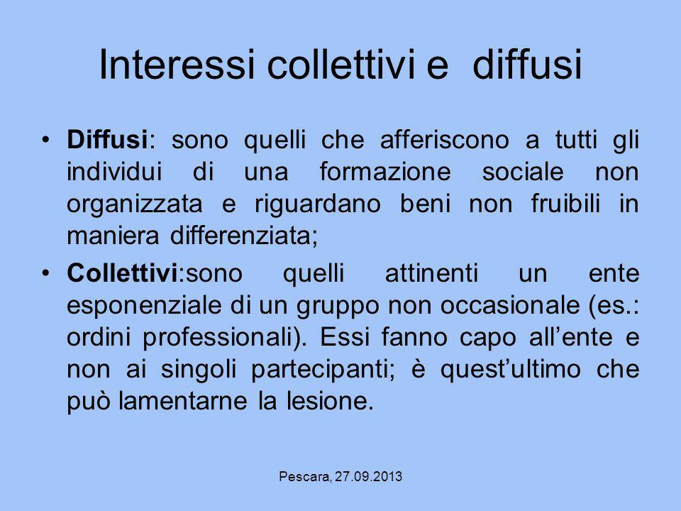 Interessi collettivi e diffusi