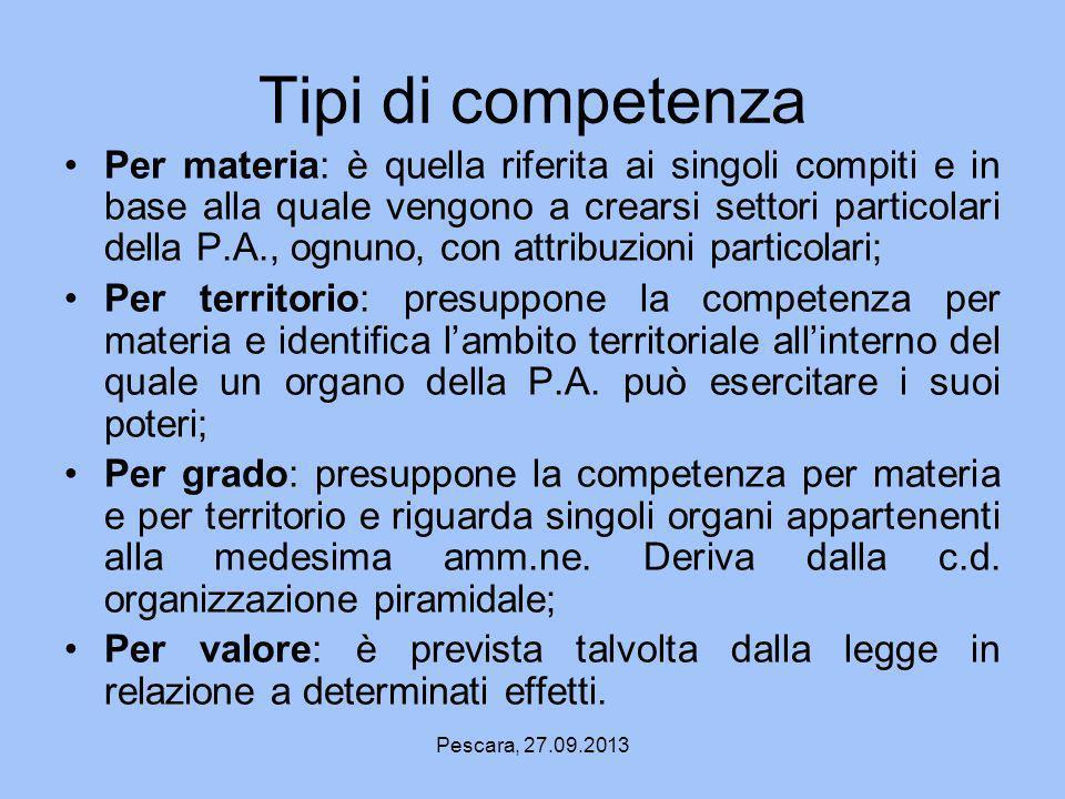 Tipi di competenza