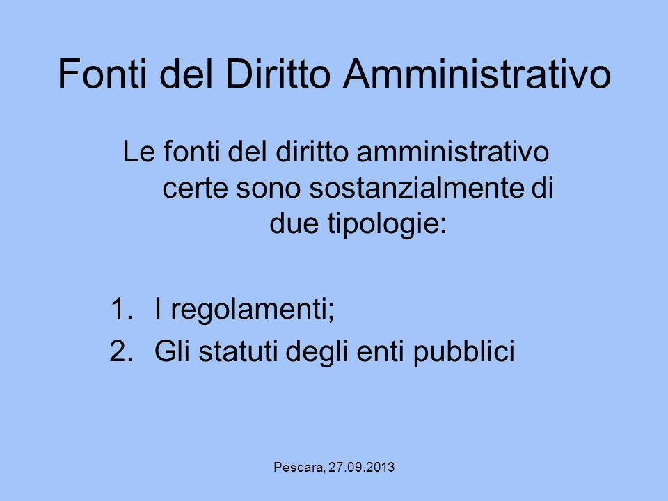 Fonti del Diritto Amministrativo