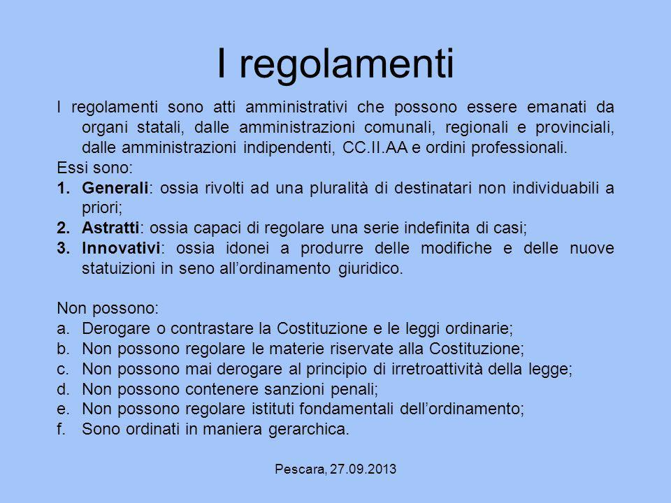 I regolamenti