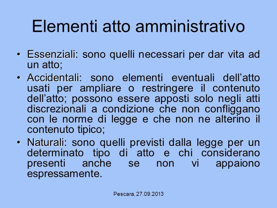 Elementi atto amministrativo
