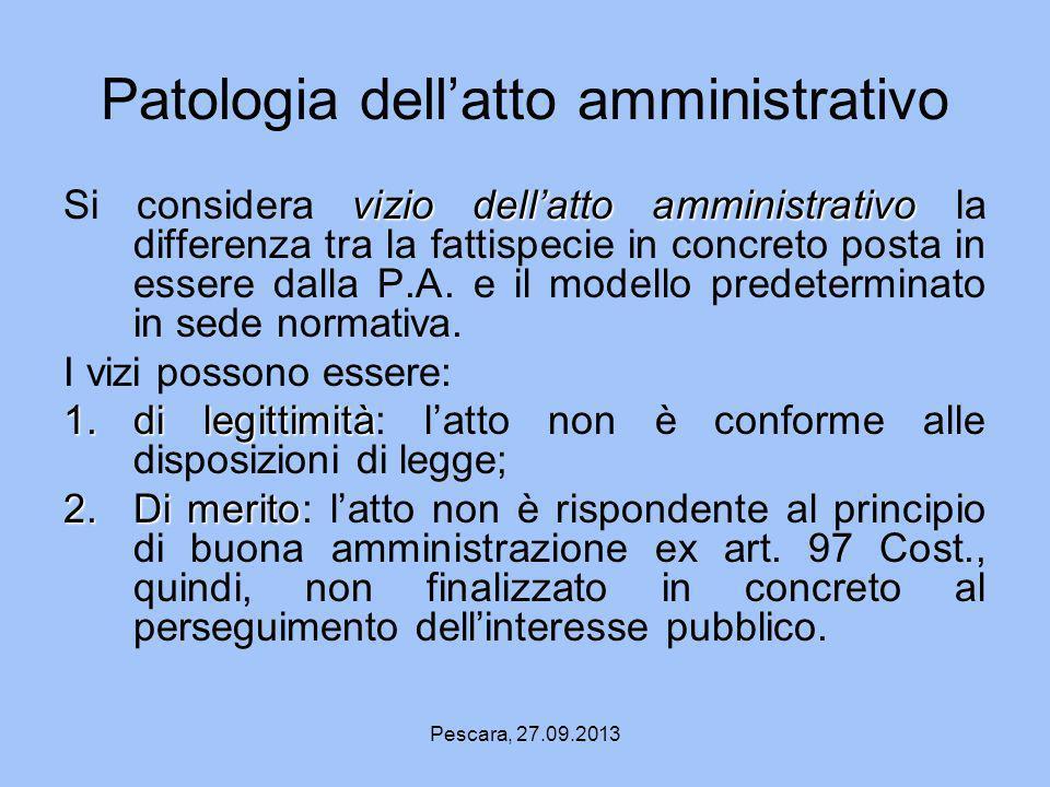Patologia dell'atto amministrativo