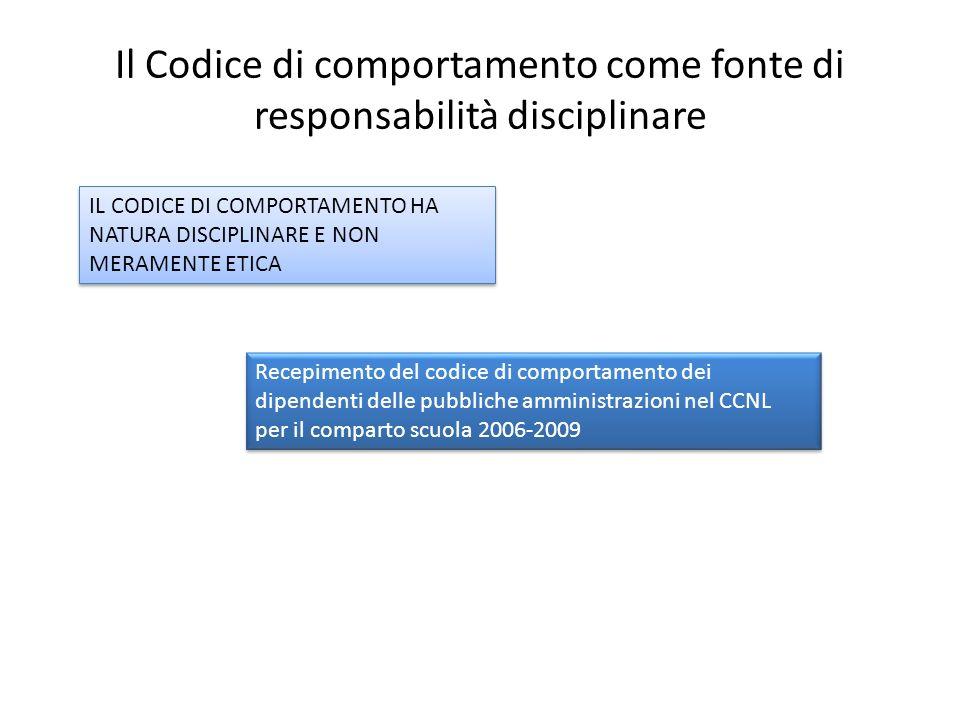 Il Codice di comportamento come fonte di responsabilità disciplinare