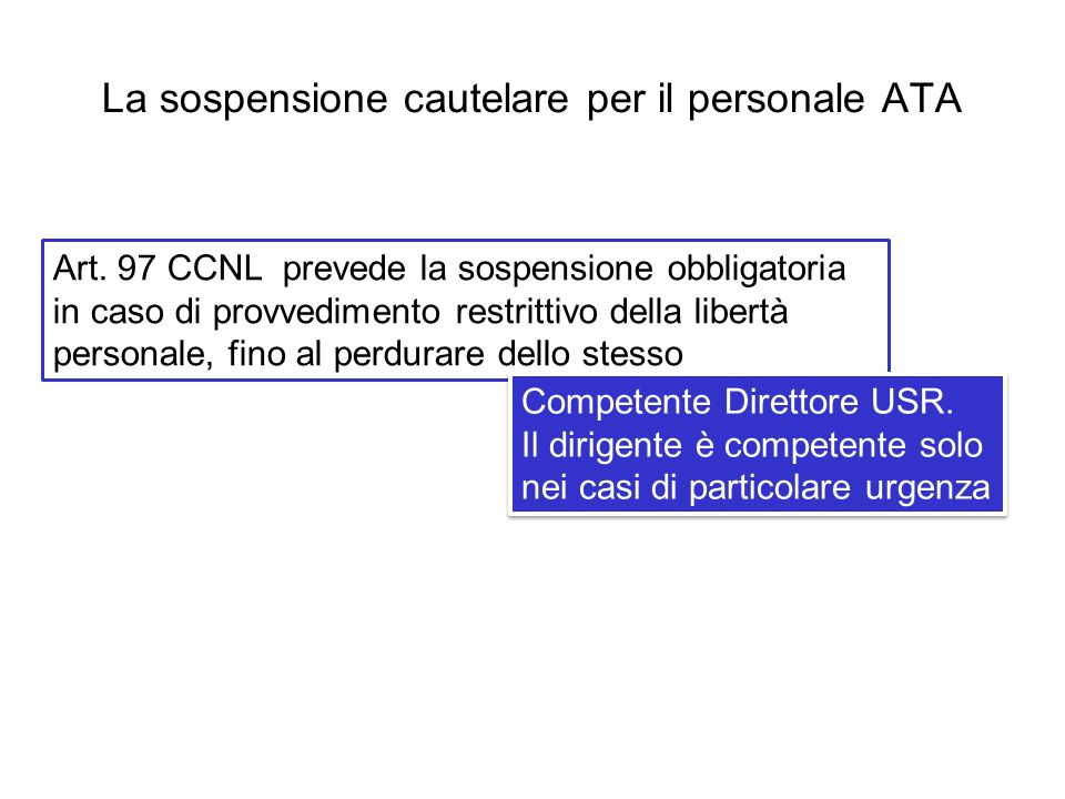 La sospensione cautelare per il personale ATA