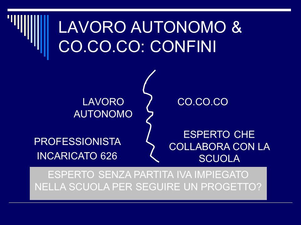 LAVORO AUTONOMO & CO.CO.CO: CONFINI