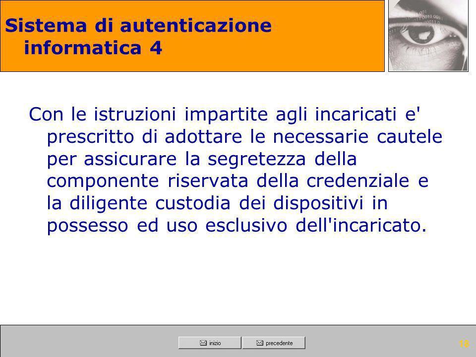 Sistema di autenticazione informatica 4