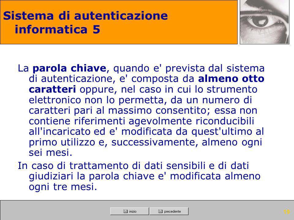 Sistema di autenticazione informatica 5