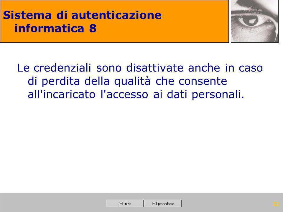 Sistema di autenticazione informatica 8