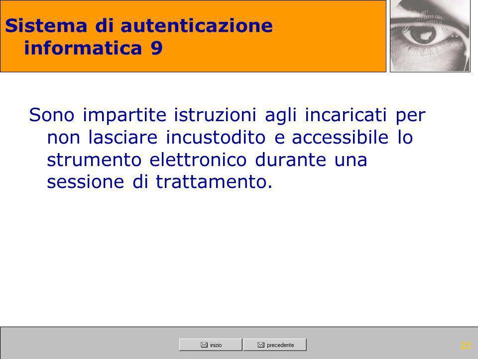 Sistema di autenticazione informatica 9