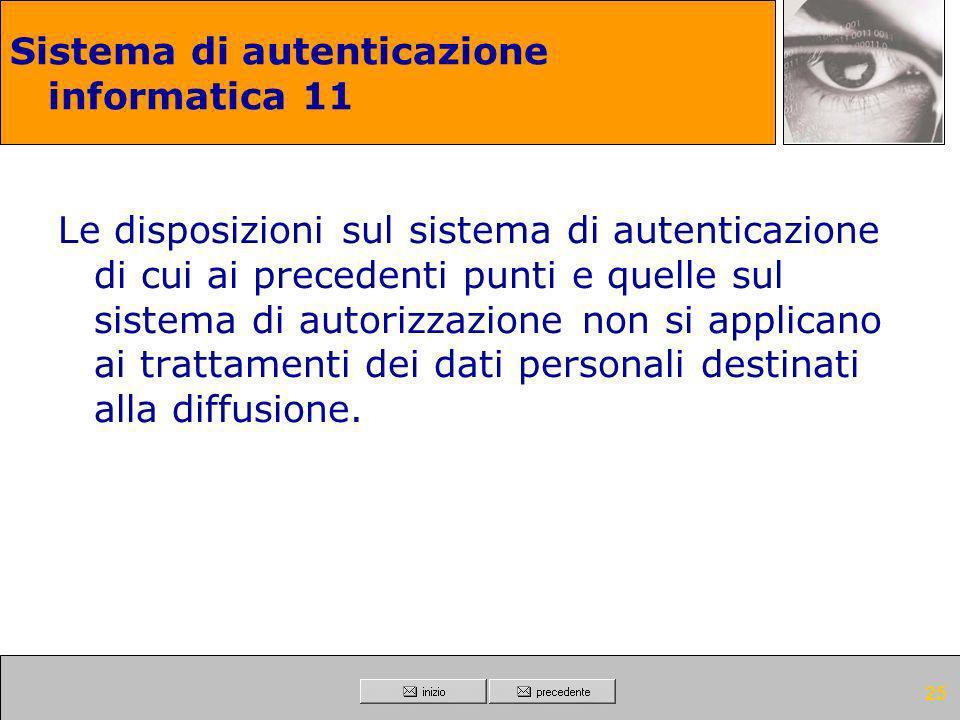 Sistema di autenticazione informatica 11