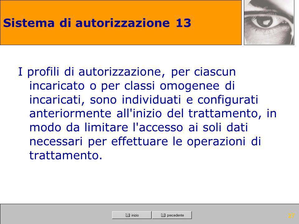 Sistema di autorizzazione 13