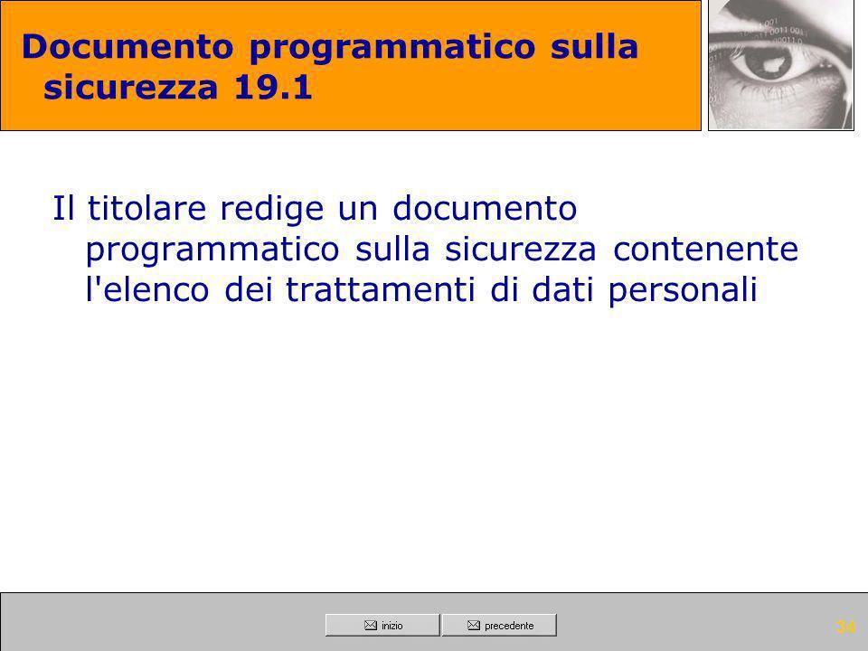 Documento programmatico sulla sicurezza 19.1