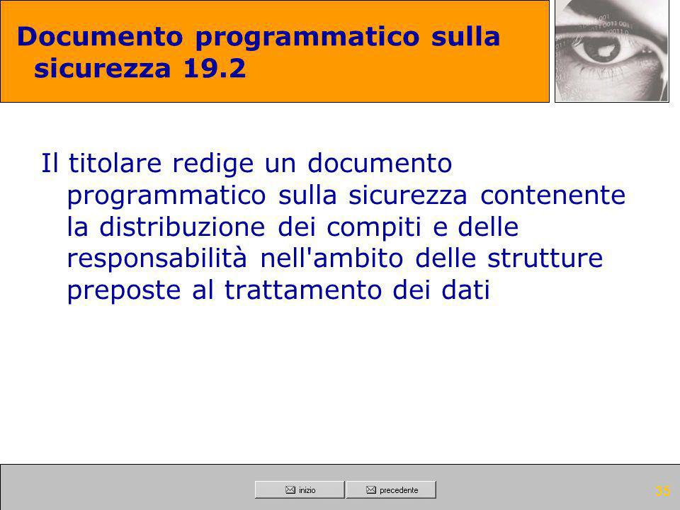 Documento programmatico sulla sicurezza 19.2