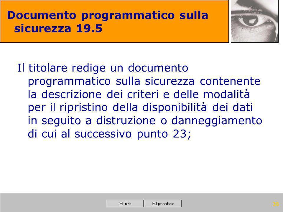 Documento programmatico sulla sicurezza 19.5