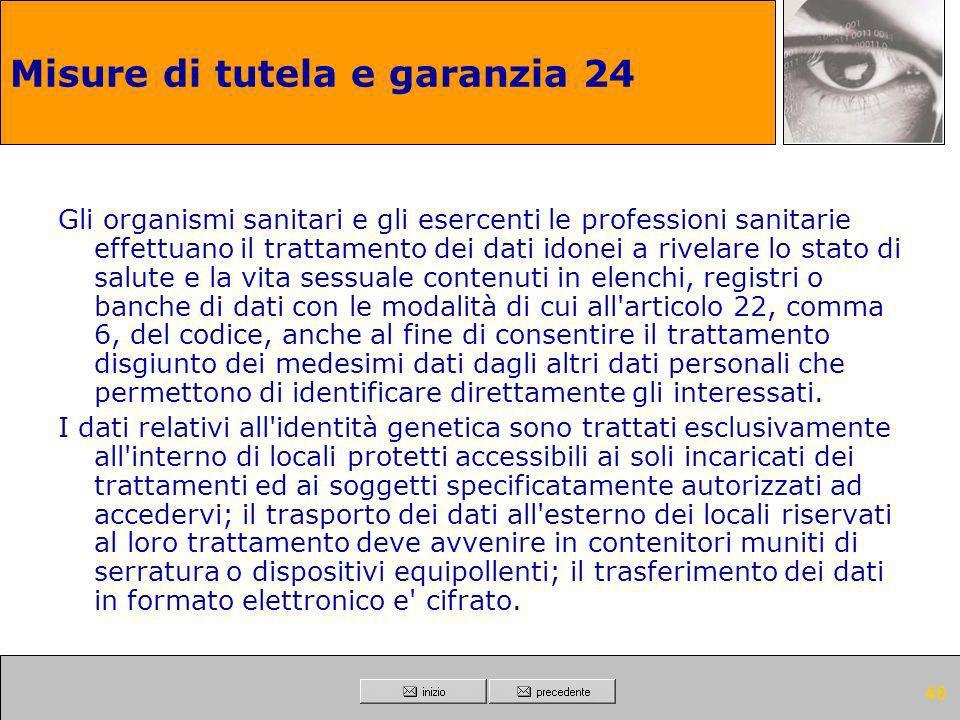 Misure di tutela e garanzia 24