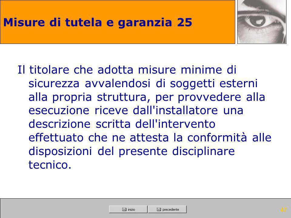 Misure di tutela e garanzia 25