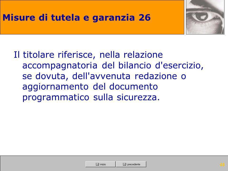 Misure di tutela e garanzia 26