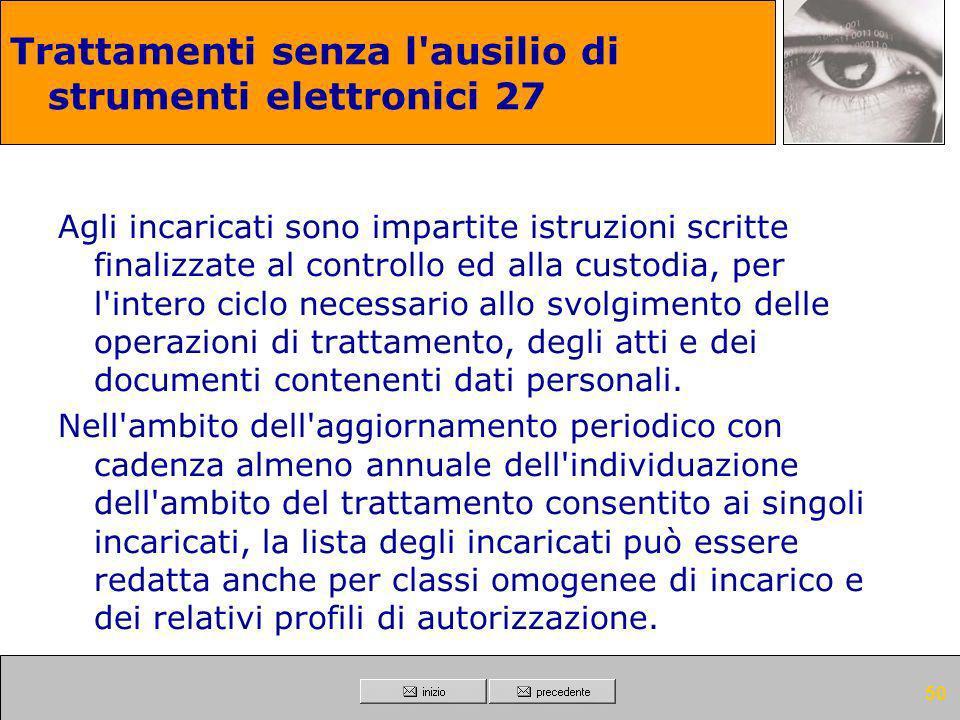 Trattamenti senza l ausilio di strumenti elettronici 27