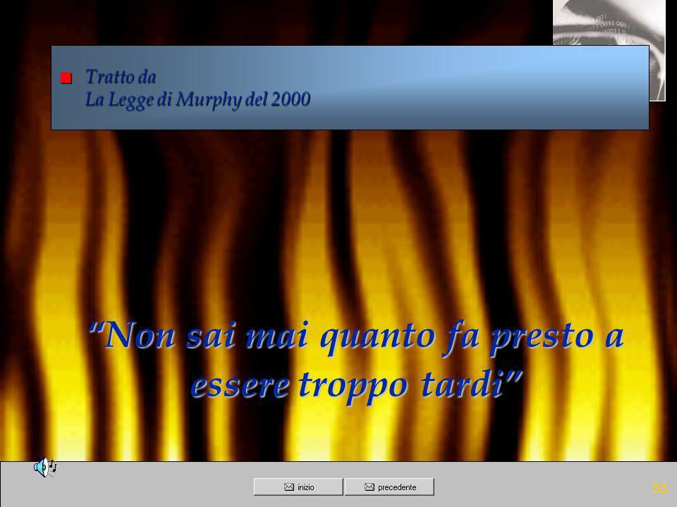 Tratto da La Legge di Murphy del 2000